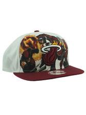 New Era NBA Miami Heat 9fifty Snapback Hat Marvel Heroes Torch Adjustable White