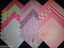 24 12x12 Scrapbook Paper Cardstock Disney Princesses Belle Cinderella Ariel Girl