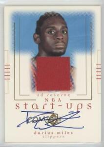 2000-01 Upper Deck Reserve NBA Start-Ups Darius Miles #DA-A Rookie Auto