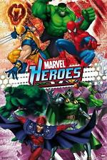 MARVEL COMICS POSTER HEROES COLLAGE