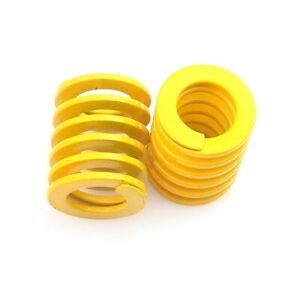 Diameter 8-50mm Yellow Light Load Duty Compression Die Spring Length 15mm-300mm