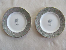 Wedgwood Humming Birds Bone China-Marbelized-Set of 2 Bread & Butter Plates-New