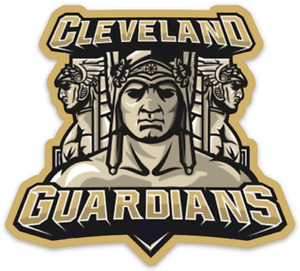 Cleveland Guardians Triple Guardian Gold with Name Logo Type MLB Die-cut MAGNET