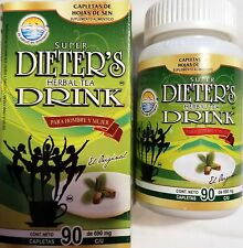 Super Dieter's Herbal Tea Tablets Dietary Supplement Aid Weight Loss 90 Tablets