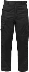 Black 9 Pocket Cargo Tactical Uniform Pants, EMT EMS Paramedic Pants