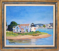 HYANNIS HARBOR~CAPE COD~LISTED ARTIST~ORIGINAL OIL PAINTING BY MARC FORESTIER