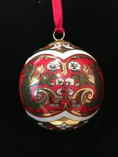 Hochst Baroque/Rococo Porcelain Ball Ornament Made in Germany NIB