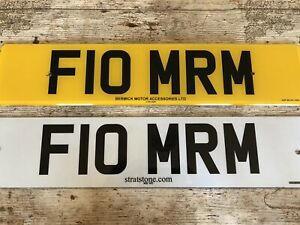 Private Number Plate - F10 MRM