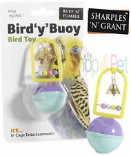 BIRD CAGE TOY WITH BELL & BEADS SHARPLES N GRANT BUDGIES PARROT COCKATIEL PET
