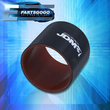 """Universal 2.5"""" Straight Reinforced Black Red Coupler Hose Silicone Piping Intake"""