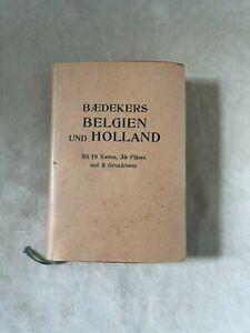 Baedeker Belgien und Holland 1914  Handbuch