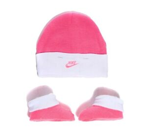 Nursery Nike Crib Hat/Bootie Set Pink/White Trainers (SF2) RRP £9.99