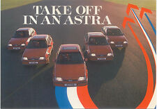 Vauxhall Astra GTE original Factory Postcard c.1985/86 Take off in an Astra
