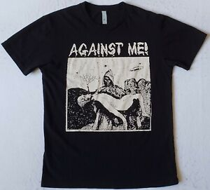 AGAINST ME! Size Small Black T-Shirt