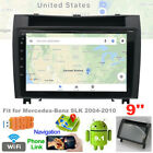 fit for Benz SLK 2004-2010 Car Stereo Radio 9'' Screen Android 9.1 GPS w/ Canbus
