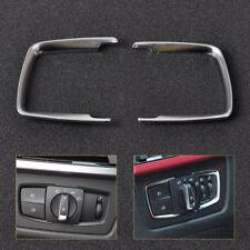For BMW F15 X5 F30 F31 F32 F34 3 4 Series Headlight Switch Trim Chrome Cover