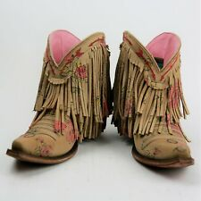Junk Gypsy by Lane Boots Spitfire Fringe Women's Western Cowgirl Booties Size 7