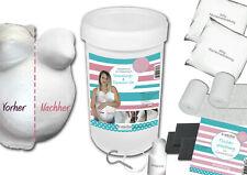 XXL- Set Babybauch glätten, veredeln, aufhängen, 5in1, Gipsabdruck 3D Gipsbinden