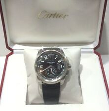 CARTIER STAINLESS STEEL CALIBRE NIB BOX AND PAPER