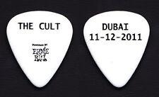 The Cult Dubai White Guitar Pick - 2011 Tour