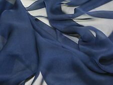 """Chiffon Soft Sheer Material 60"""" Wide Navy Fabric By The Yard Home Decor"""