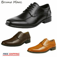 BRUNO MARC Mens Formal Business Casual Lace up Leather Lined Dress Oxford Shoes