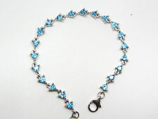 Swiss blue topaz trillion cut bracelet