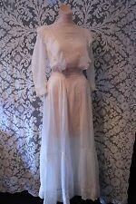 Beautiful White Lace Antique Victorian Lawn Dress Tea Pary