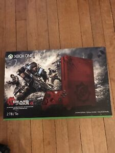 Microsoft Xbox One S Gears of War 4 Limited Edition 2 TB Crimson Red Console