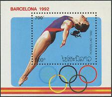 LAOS Bloc N°119** jeux olympiques de Barcelone, 1992, olympic games Sc#1062A MNH