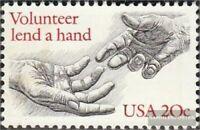 EEUU 1627 (completa.edición.) nuevo con goma original 1983 Voluntarios ayuda