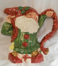 1989 FITZ & FLOYD OLD WORLD CHRISTMAS ELF PITCHER 1 1/2 QT