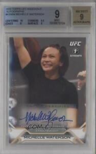 2016 Topps UFC Knockout /249 Michelle Waterson #KA-MW BGS 9 Auto