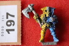 Juegos taller Warhammer caos Guerrero con hacha 1994 Marauder Metal Fantasía fuera de imprenta