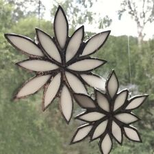 Stained Glass Snowflake Window Decoration For Christmas And Winter Holidays