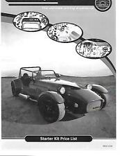 WESTFIELD sportscars Starter Kit Car Parts & prezzi BROCHURE NOV 2009 per 2010