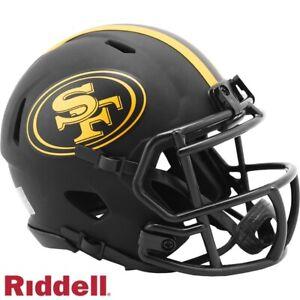 Black Eclipse Mini Football Helmet - NFL - San Francisco 49ers