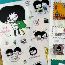 Sticker Lover Couple Dairy Life for Diary Planner Filofax Scrapbook 5 Sheets/set