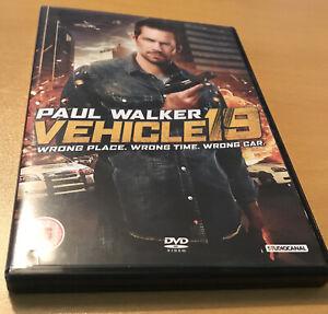 VEHICLE 19 (DVD, 2013) PAUL WALKER