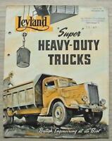 LEYLAND SUPER HEAVY DUTY TRUCKS Beaver & Hippo Sales Brochure Sept 1948 #616A