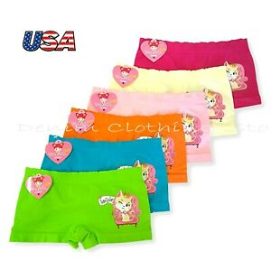 Lot of 6 Girl's Children Kids Underwear Panties Seamless Boxer Boy Shorts S M L