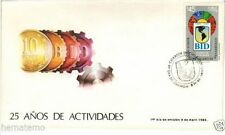 Chile 1986 FDC 25 años Banco Interamericano de Desarrollo