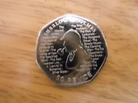 New Sherlock Holmes 2019 50p Fifty Pence Coin Rare  Uncirculated free postage