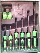 Snap-On Screwdriver Set Combination 8 Piece Soft Grip Green SGDX80BG