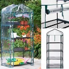 New Greenhouse 4 Tier Mini PVC Plastic & Metal Frame For Garden Plants Grow Uk