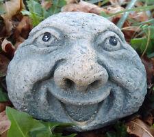 Latex w plastic backup smile face rock mold concrete plaster mould