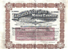 South Africa 1909 Lancaster West Gold Mining Co 5 shares £5 Uncancelled coupons