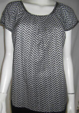W LANE Womens Olive Green & White top size 8 - AS NEW