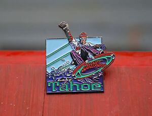 Planet Hollywood Lake Tahoe Silver Tone Metal & Enamel Lapel Pin Pinback