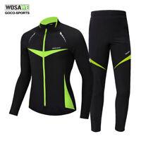 Mens Winter Cycling Jacket Pants Set MTB Bike Bicycle Jerseys Thermal Tights